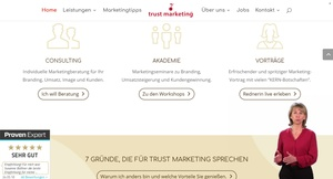 Onlinevertreter-Begrüßungsspot einer Marketingagentur