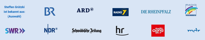 Auswahl der Medien, in denen Steffen Grützki von VideoRhetorik aufgetreten ist