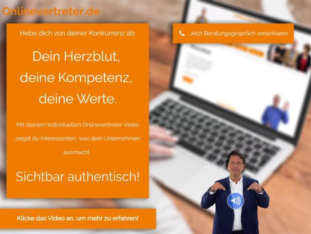 Persönliche Videoansprache auf Website