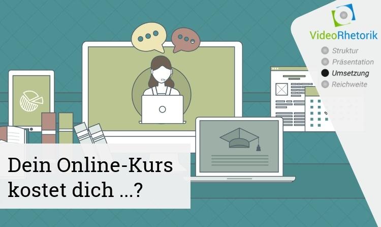 Grafik Laptop und Bildschirme mit Onlinekurs