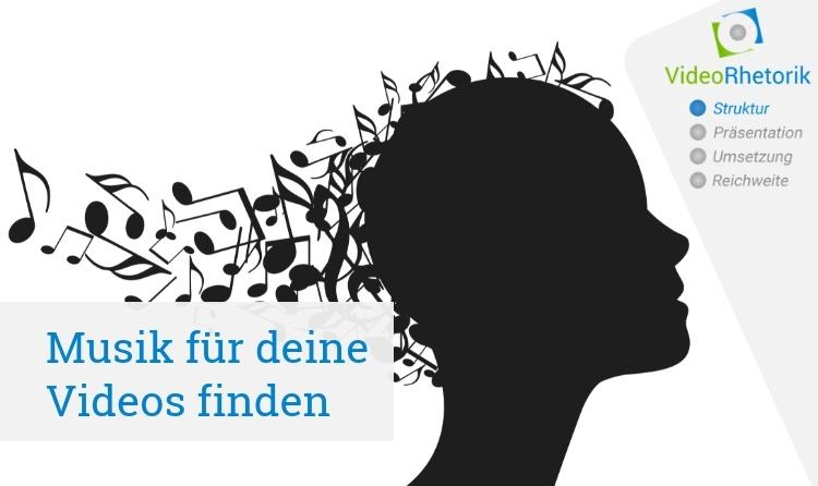 Musik für Videos - Musiknoten umspielen Kopf
