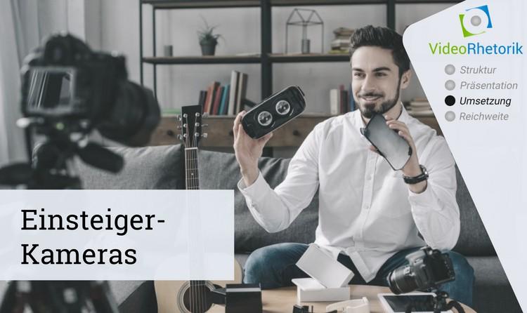 Verschiedene Kameras zur Content Produktion für Einsteiger